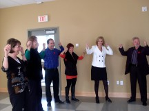 Sotheby Realty Joins in on a Laughter Yoga Class After Board Meeting at NOTL Community Centre